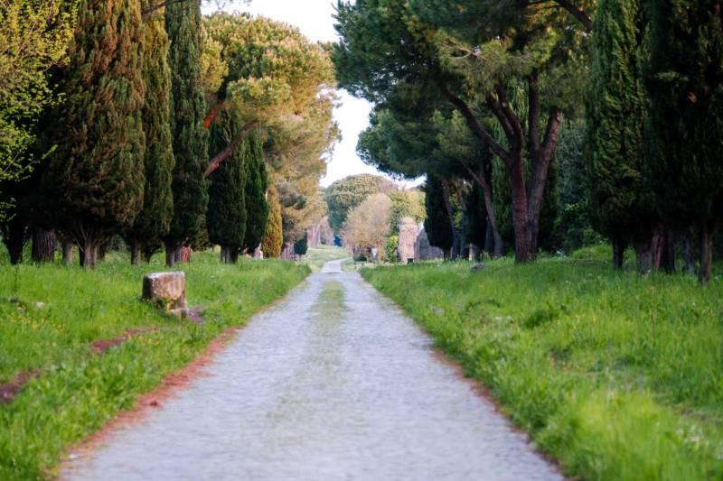 A antiga Via Ápia & as catacumbas de San Callisto